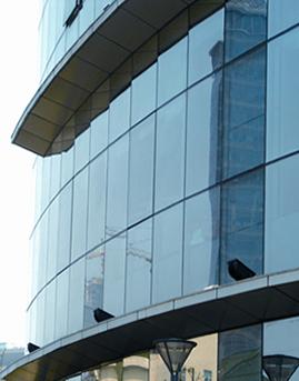 江阴行政事业中心办公楼隐框玻璃幕墙、铝板幕墙施工效果图