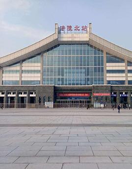 重庆涪陵北站幕墙施工效果图