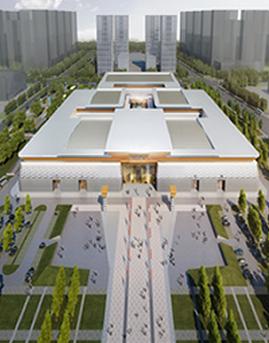 菏泽展览中心幕墙设计效果图