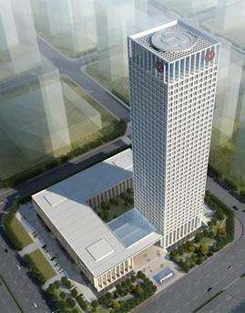 中国银行股份有限公司安徽省分行新营业办公楼玻璃幕墙设计效果图