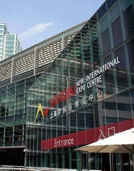 上海新国际博览中心明框玻璃幕墙设计效果图