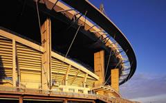 新疆体育中心体育场幕墙施工案例