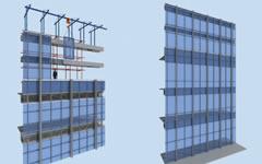 塔楼顶部单元式幕墙施工技术重、难点分析及解决方案