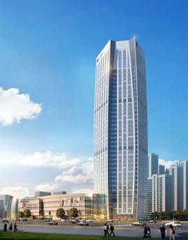天津大悦城玻璃幕墙设计效果图