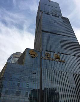 南京金鹰三期玻璃幕墙施工效果图