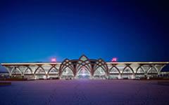 银川火车站站房异形曲面石材幕墙设计案例