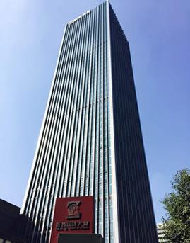 浙商国际大厦框架式玻璃幕墙设计施工效果图