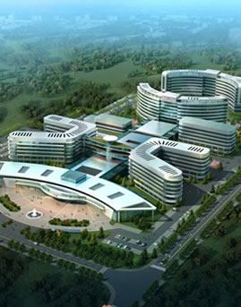 遵义新蒲新区人民医院玻璃幕墙设计效果图