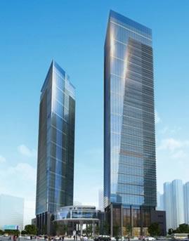 贵阳中天会展城金融商务区隐框玻璃幕墙设计效果图