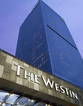 北京威斯汀酒店玻璃幕墙、石材幕墙设计效果图