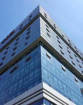 京东商城总部大楼隐框玻璃幕墙设计效果图