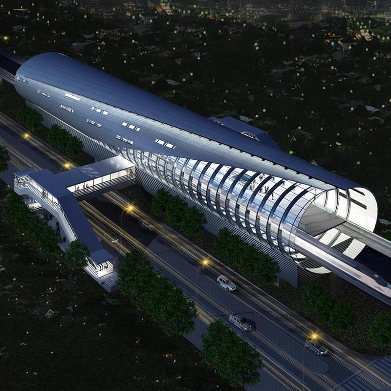 北京地铁房山线车站铝板幕墙、玻璃幕墙设计案例