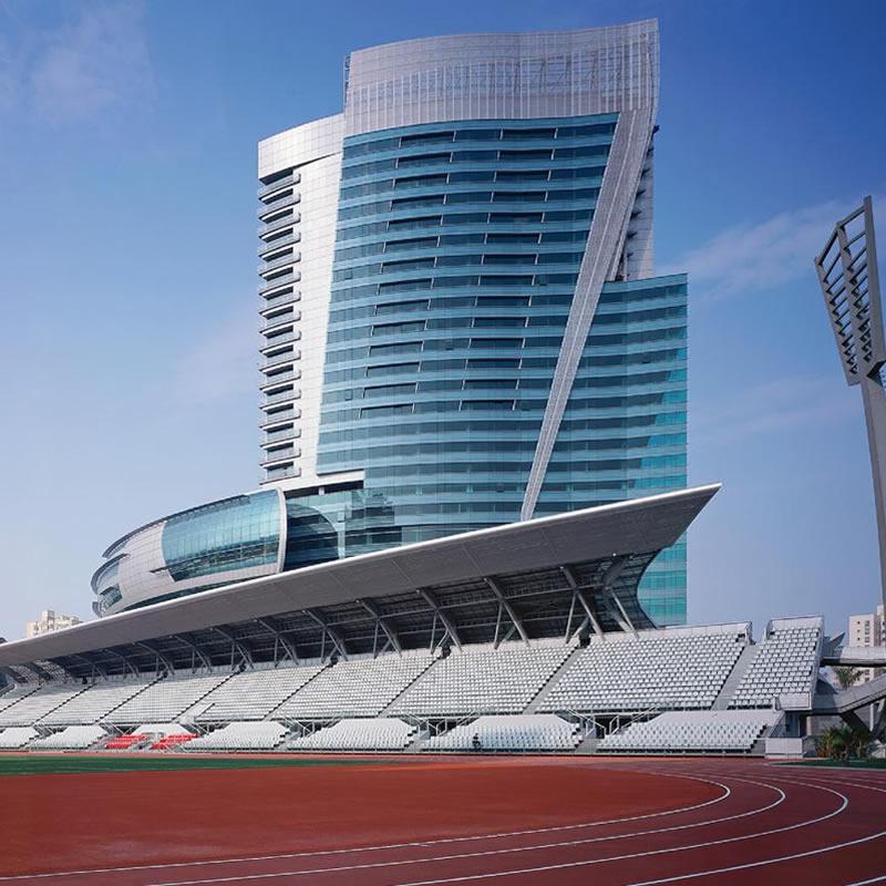 深圳福田体育公园铝板幕墙设计案例