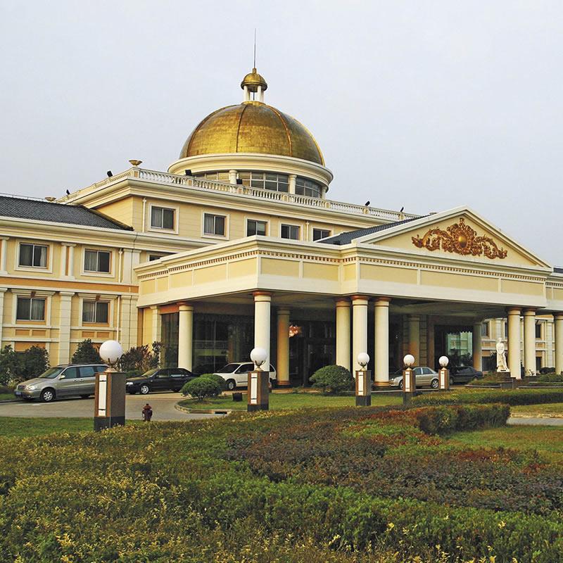 上海大众国际会议中心石材幕墙设计案例