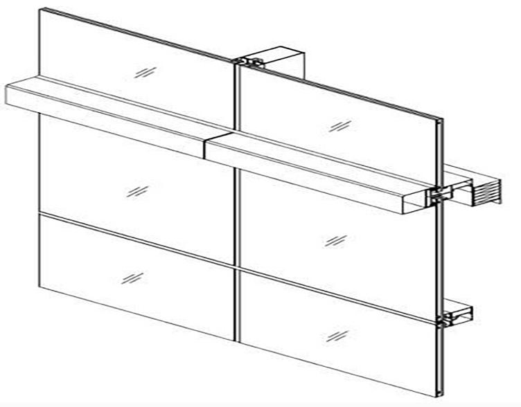 框支承构件式玻璃幕墙的主要特点详解