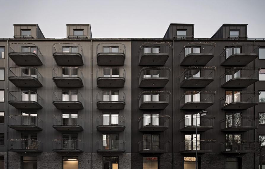 双露台的惬意体验――瑞典Qvillestaden公寓