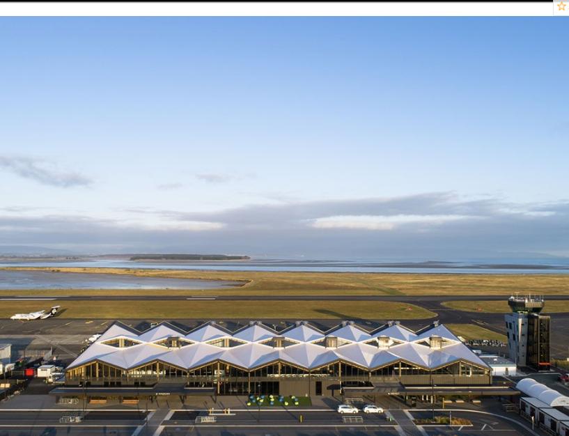 腾飞的木构架――尼尔森机场航站楼