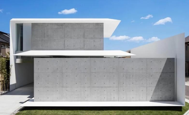 Ho-House――鲜明的白色混凝土
