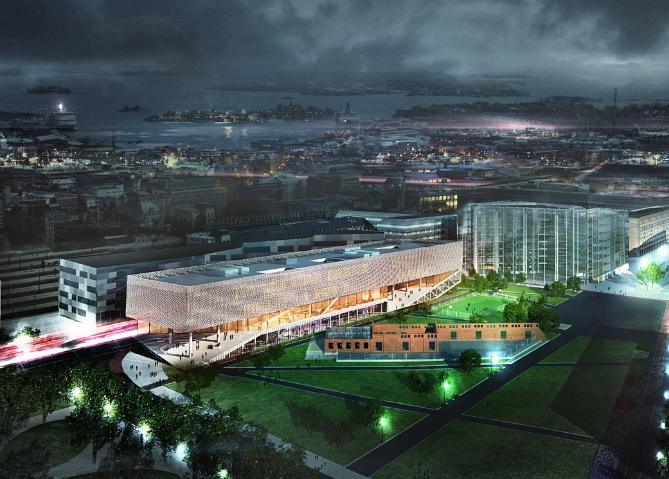 赫尔辛基中央图书馆入围设计/OYO+office9+Ingenium设计