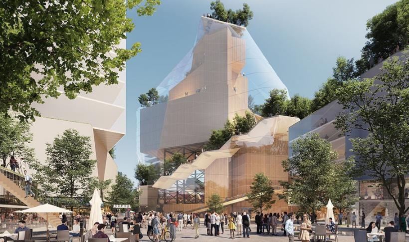 疫情下的购物中心新生――Heuvel购物中心及其音乐厅的更新改造