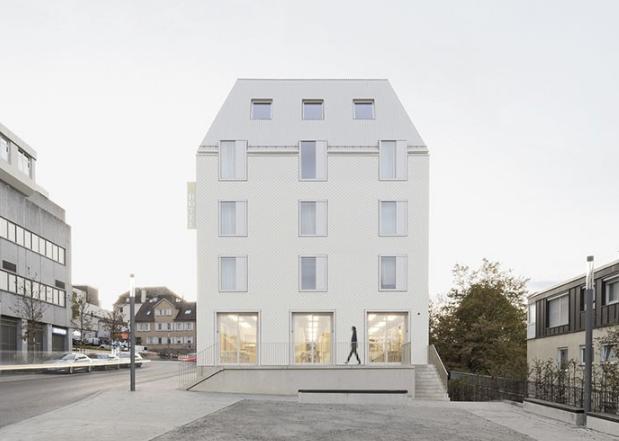 二氧化碳中性风建筑 | 德国Bauhofstrasse酒店