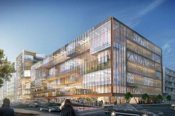 Uber优步新建总部的玻璃幕墙双塔设计