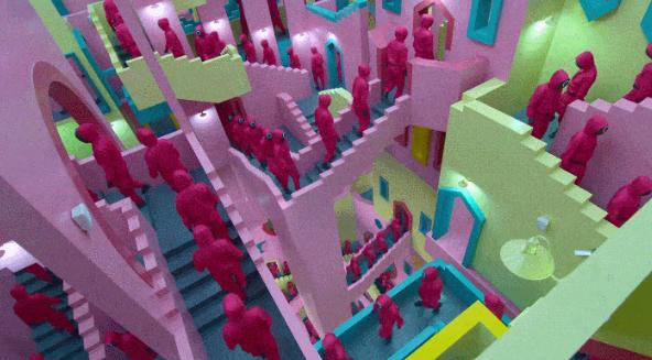 """《鱿鱼游戏》火爆全网,其背后的建筑原型正是西班牙超现实主义建筑""""网红""""..."""