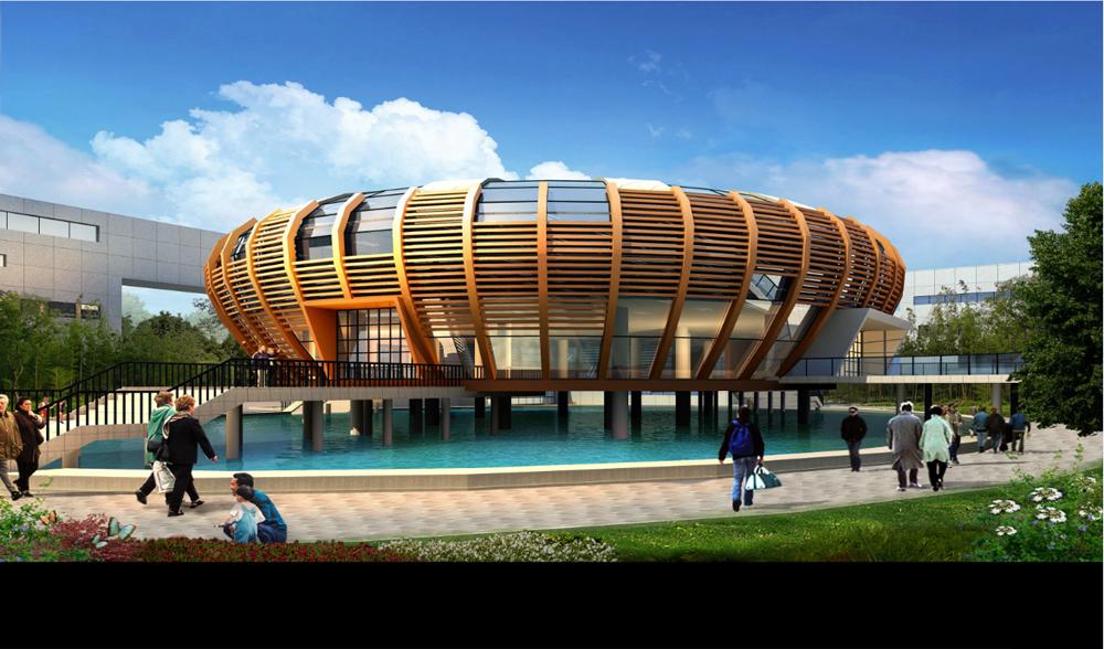 原阳县文化中心玻璃幕墙设计方案