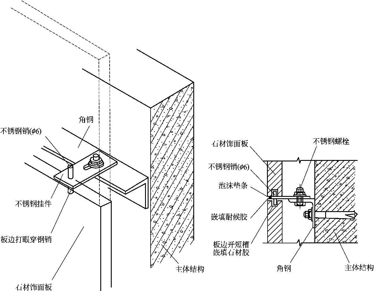 石材幕墙的组成和构造