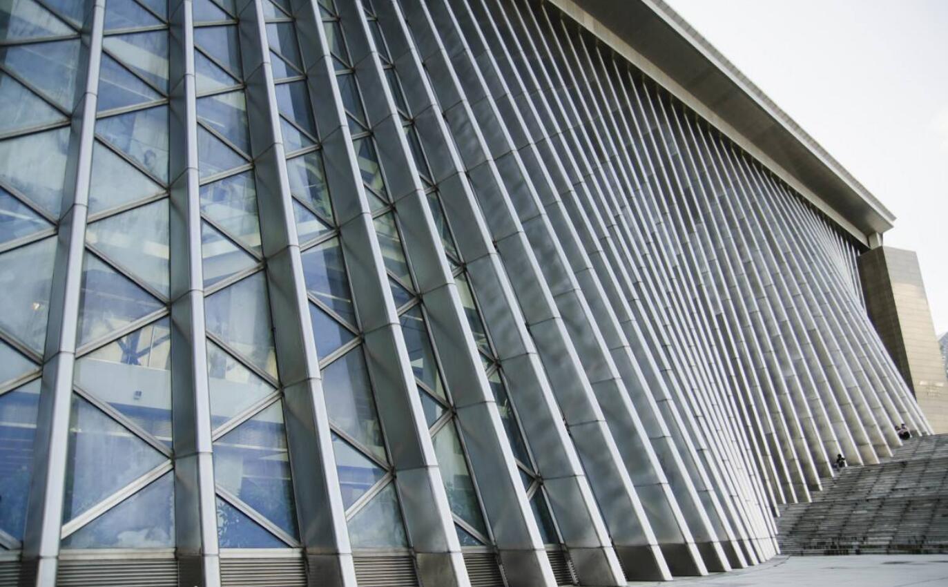 深圳图书馆玻璃幕墙、异形幕墙设计效果图