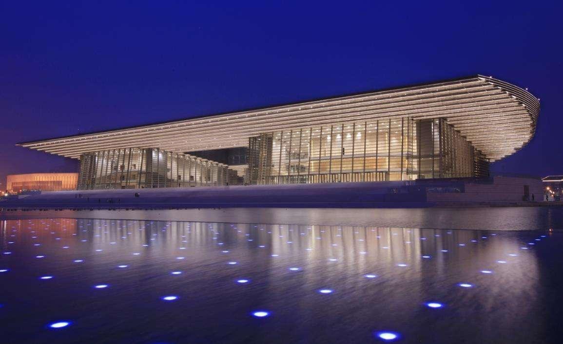 天津大剧院石材幕墙、玻璃幕墙、异形幕墙设计效果图