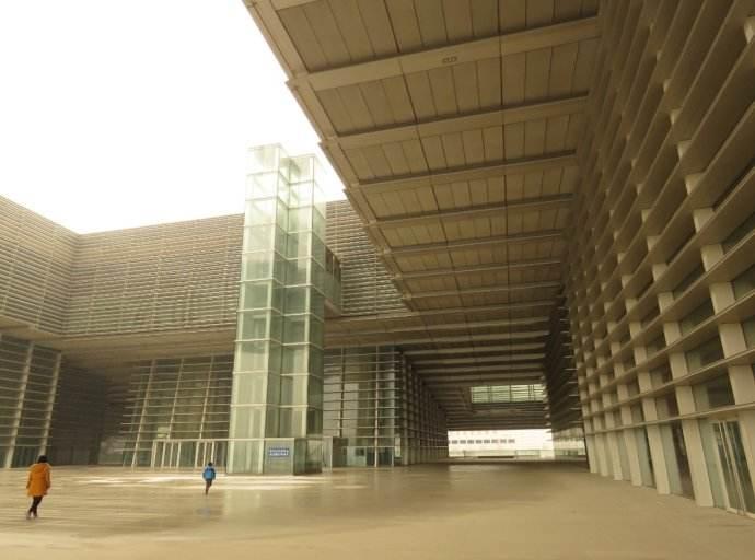 天津文化中心馆干挂式石材幕墙设计效果图