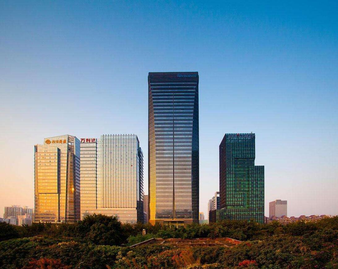 腾讯大厦玻璃幕墙设计效果图