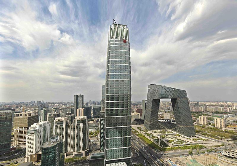 中国国际贸易中心玻璃幕墙设计效果图