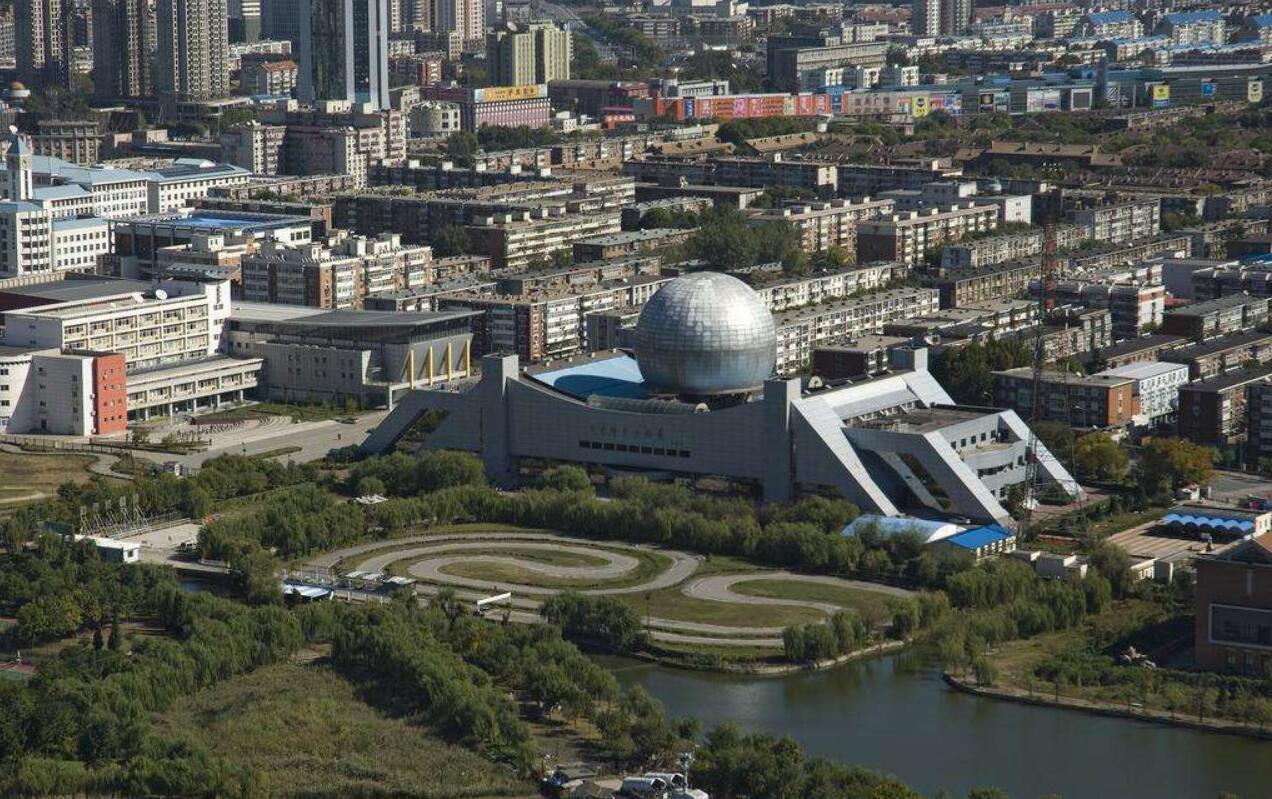 天津科学技术馆异形幕墙,金属幕墙设计效果图
