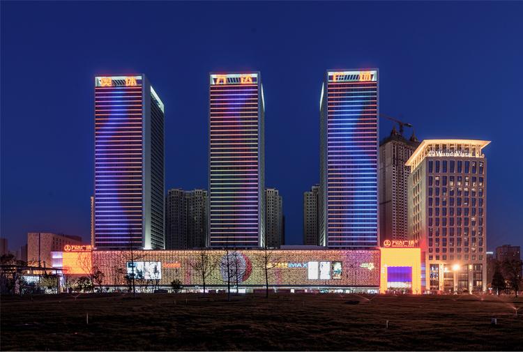 沈阳奥体万达广场玻璃幕墙,金属幕墙设计效果图案例